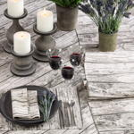 426 printed wood tablecloth