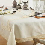 4791 embroidered lace tablecloth