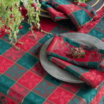 4837 plaid design napkins