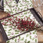 60110 holly design placemats
