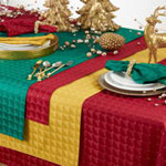 6081 checkered holiday tablecloth