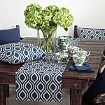 7213 indigo ikat pillow