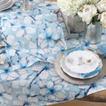 7407 watercolor flower runner