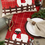 8804 Plaid Christmas Sheep Runner