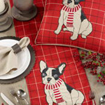 8860 Plaid Christmas French Bull Dog Runner