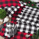 9026 fringed buffalo plaid runner