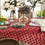 QX269 cutwork design tablecloths
