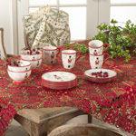 QX296 christmas tree cutwork tablecloths
