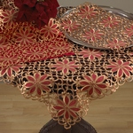 QX556 broderie cutwork tablecloths