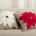 FT332 poinsettia pillows