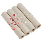 GL228 foil printed star garland roll