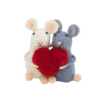HA057 Handmade Mice with Heart