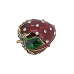 HA209 Bejeweled Straberry Box