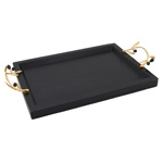 HA596 Wooden Tray With Olive Handles