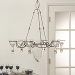 HA151 metal and glass chandelier