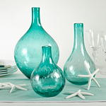 HA304 bubble glass vases