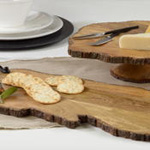 HA366 natural wood cake stand