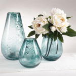 HA712 bubbled glass vase