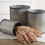 HA835 nesting galvanized cans