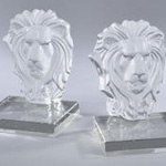 HA918 Crystal Bookend,