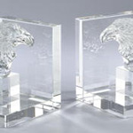 HA919 crystal bookend, set of 2