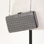 HB023 greek key evening bag