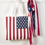 HB103 american flag tote bag