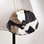 HB157 multi color faux fur clutch