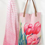 1651 floral shopping bag