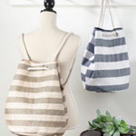 HB476 striped pull string backpack