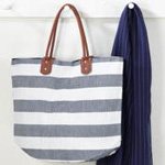 HB619 striped tote bag