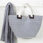 HB646 striped tote bag