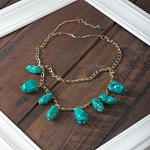 J146N Dangling Stone Necklace