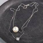 J422N layered pearl drop necklace