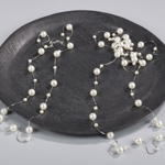 J424N double strand pearl necklace