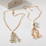 J531N beaded tassel necklaces