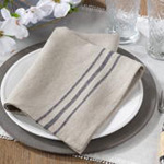 1117 striped linen napkin