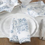1162 toile floral coaster