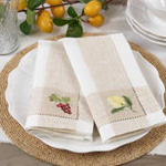 2230 Embroidered Grape Hemstitch Napkin