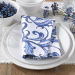 226 printed leaf and vine napkin