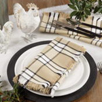 2853 plaid napkin