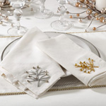 60130 beaded christmas tree napkin