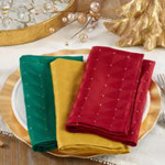 6081 checkered holiday napkin