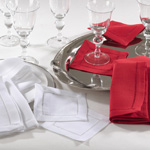 6300 cocktail napkins with hemstitched borders