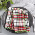8051 plaid napkin