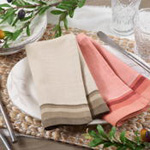 8211 Striped Border Napkin