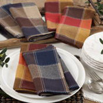 8571 stitched plaid napkin