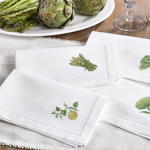 NM114 embr'd melon hemstitch napkin