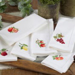 NM127 embr'd peach hemstitch napkin