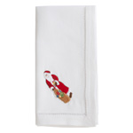NM170 Embroidered Santa Napkin